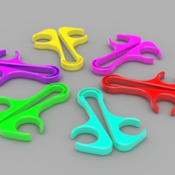 Capture d'écran 2017-09-21 à 16.28.08.png Download free STL file Large Bag Clip • 3D printable template, O3D