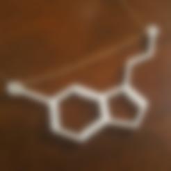 Free STL files Serotonin Pendant, O3D