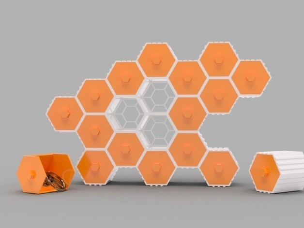 c4806042b91fc5e68e5ac161fb72cd4a_preview_featured.jpg Download free STL file The HIVE - Stackable Hex Drawers • 3D printer model, O3D