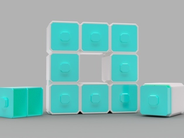 6413bca97766bbe9cfbb55d539dcac1d_preview_featured.jpg Download free STL file Modular Drawers • Model to 3D print, O3D