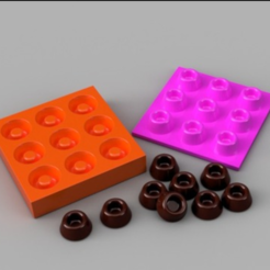 Free 3D printer file Chocolate Mold, O3D