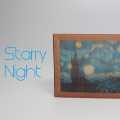 Free 3d print files Starry Night - Full Color, O3D