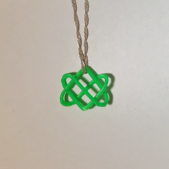 Free 3D printer file Celtic Love Knot Pendant, O3D