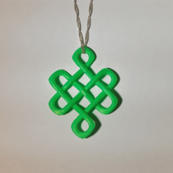Free Celtic Knot of Longevity Pendant 3D model, O3D