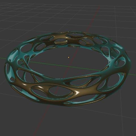 Free 3D print files Voronoi Bracelet, O3D