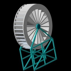 Free 3D printer file Water Wheel, O3D