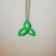 Download free 3D printing designs Triquetra Pendant, O3D