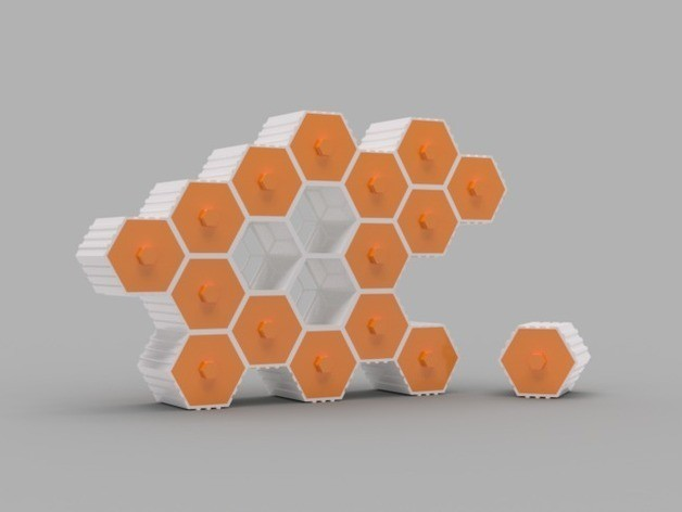 ffc065b562430afab401289da53148dc_preview_featured.jpg Download free STL file The HIVE - Stackable Hex Drawers • 3D printer model, O3D
