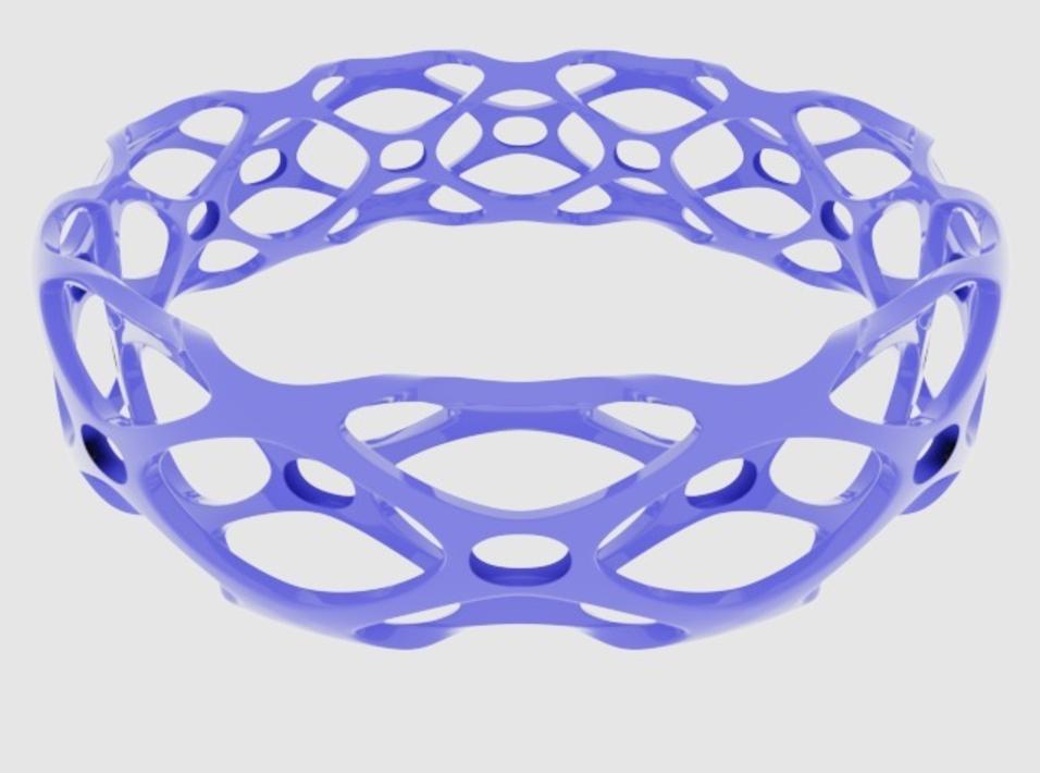 Capture d'écran 2017-09-21 à 16.25.49.png Download free STL file Subdivision Bangle Bracelet • 3D printable object, O3D