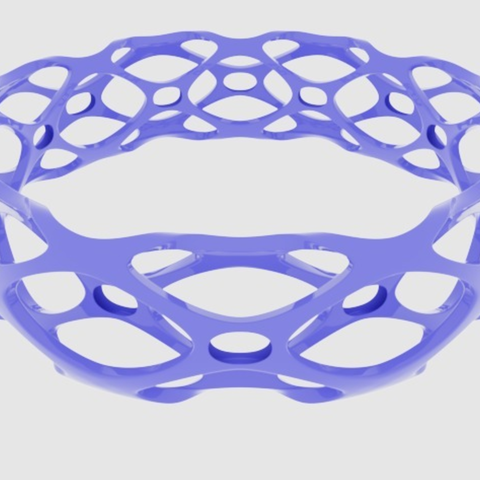 Free Subdivision Bangle Bracelet 3D printer file, O3D