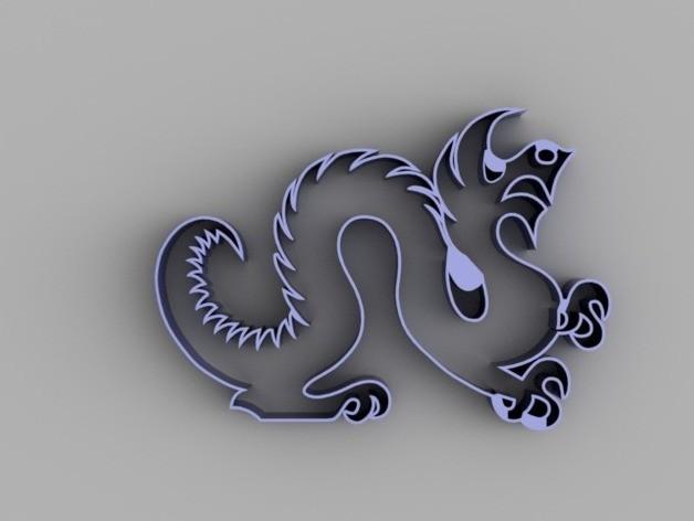127a1ed1f96bb34a361b1c0d0f691002_preview_featured.jpg Télécharger fichier STL gratuit Drexel Dragon Cookie Cutter • Modèle pour impression 3D, O3D