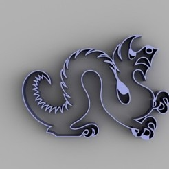 Download free 3D printing templates Drexel Dragon Cookie Cutter, O3D