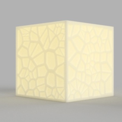 Download free STL Voronoi Tea Light Shade, O3D