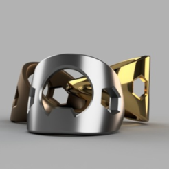 Free STL Bottle Opener Ring, O3D