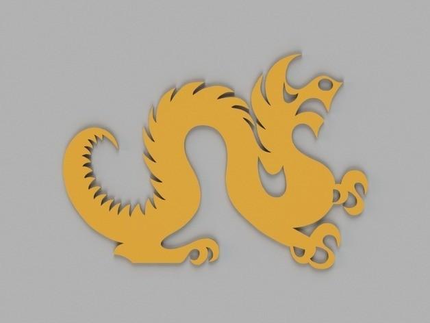 d9bd371193f183f97e799f3bdf32b135_preview_featured.jpg Télécharger fichier STL gratuit Drexel Dragon Cookie Cutter • Modèle pour impression 3D, O3D