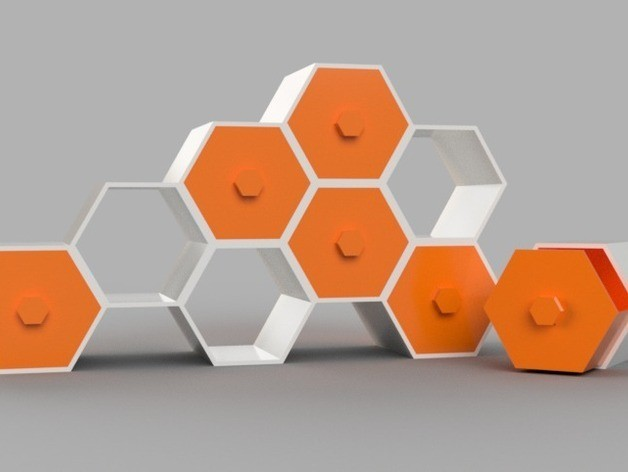 f5d137f34350d26c0e043e37d0761713_preview_featured.jpg Download free STL file Modular Hex Drawers • Design to 3D print, O3D
