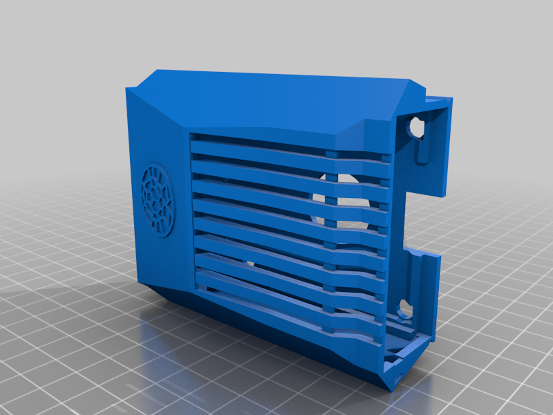 Pi4case3.png Download free OBJ file Raspberry Pi 4 Case - Overclocked • 3D printable template, Tipam