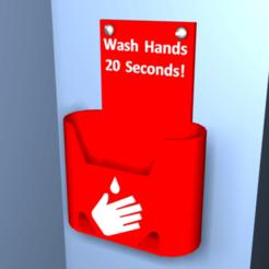 Télécharger plan imprimante 3D gatuit Porte-distributeur de gel pour les mains Covid-19, Tipam