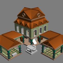 towncentre1.png Download free OBJ file AOE2 DE Town Centre 1 • 3D print template, Tipam