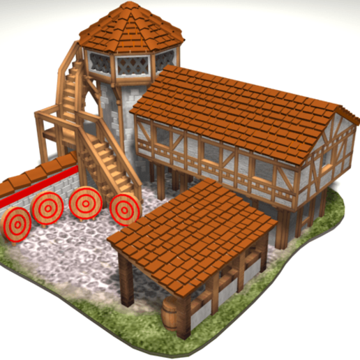 Download free 3D printer model AOE 2 DE 'style' Archery Range, Tipam