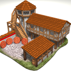 Download free 3D printer model AOE 2 DE 'style' Archery Range, Tipam