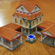 PhotoPainted.png Download free OBJ file AOE 2 DE Town Centre 1 v2 • 3D printing model, Tipam