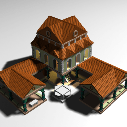 TownCentre1b.png Download free OBJ file AOE 2 DE Town Centre 1 v2 • 3D printing model, Tipam