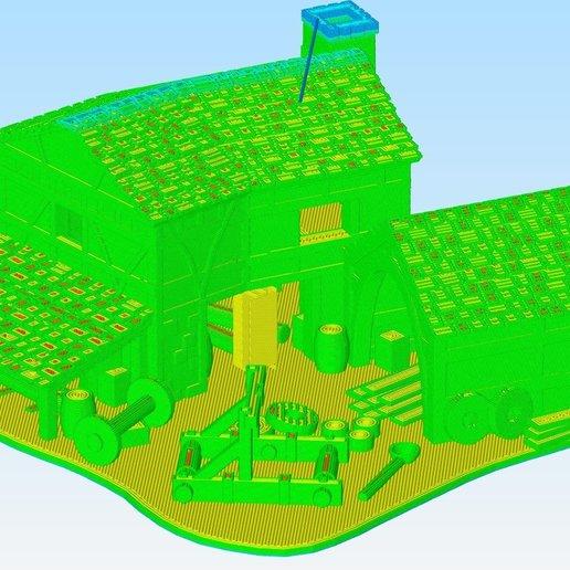 SiegeWorksGCode.jpg Download free OBJ file AOE2 Style Siege Workshop 1 • 3D printable model, Tipam