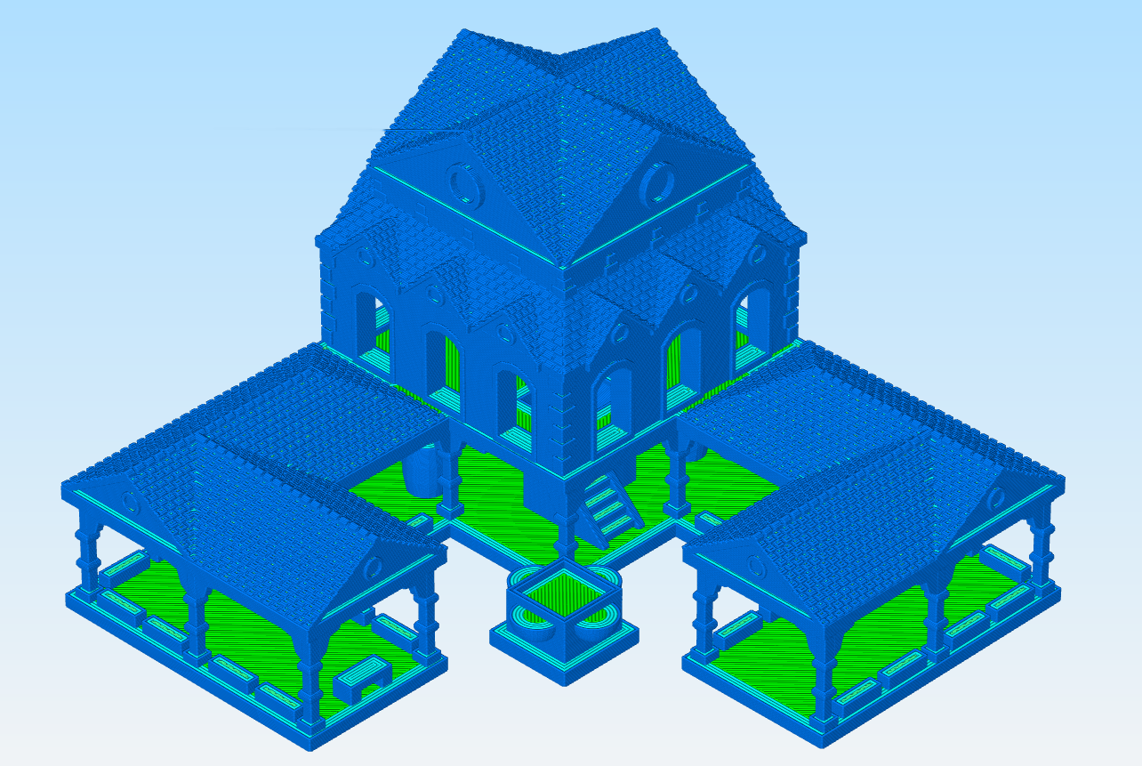 AOE2_TC1_GCodePreview.png Download free OBJ file AOE 2 DE Town Centre 1 v2 • 3D printing model, Tipam