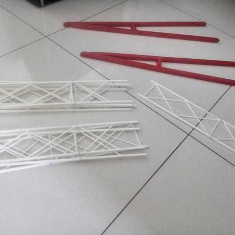 Free 3D printer designs Giant wheel / ferris wheel / grande roue / 1 meter, varella