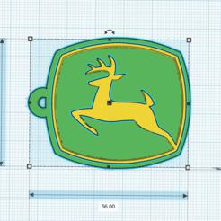 Download STL file John Deere • 3D printer object, pablopunta