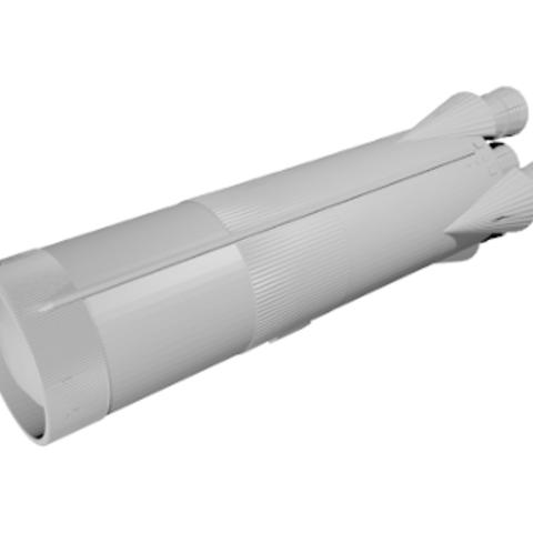Free stl file Saturn V Rocket - Stage 1, spac3D
