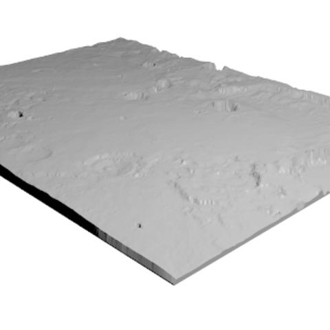 Free STL Opportunity Landing Site (QR), spac3D