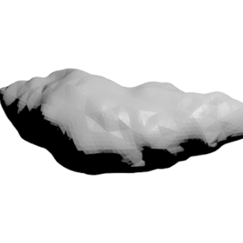 Free Geographos Asteroid 3D printer file, spac3D