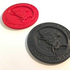 Free 3D printer files Viking 40th Anniversary Emblem, spac3D