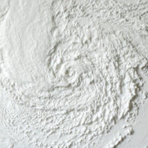 Free Hurricane Sandy 3D printer file, spac3D