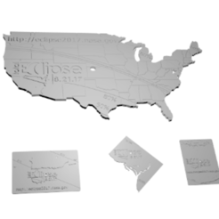 Free 3d printer model Eclipse - USA and Territories, spac3D