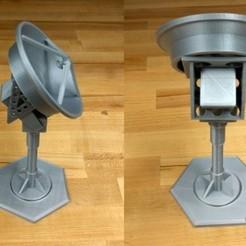 diseños 3d gratis Receptor de baliza satélite de banda Ka, spac3D