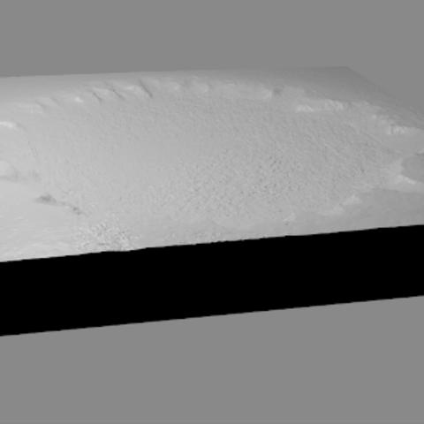 Free 3d printer model Victoria Crater, spac3D