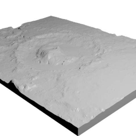 Free stl Curiosity Landing Site (QR), spac3D