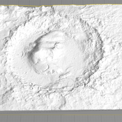 Download free 3D printing templates Gale Crater, spac3D