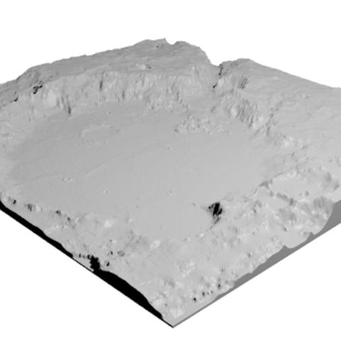 Free Spirit Landing Site STL file, spac3D