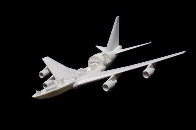 OpenEndViewSide.jpg Download free STL file SOFIA, the Stratospheric Observatory for Infrared Astronomy • 3D printable design, spac3D