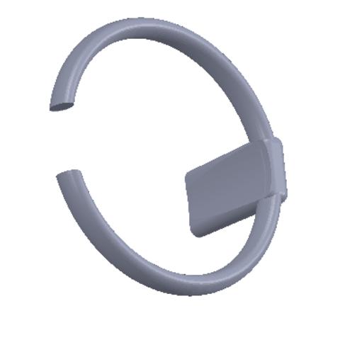 Télécharger STL gratuit LEVIER VITESSE FIAT AGRAFE SOUFLET, Qm3dModelisation