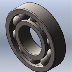 3D printing model ball bearing, Qm3dModelisation