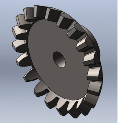 STL files conical gear, Qm3dModelisation