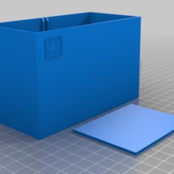 Download free 3D printing designs pen box with removable separation 12x6x7cm, TME75