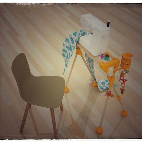 Imprimir en 3D gratis máquina de coser muebles, #DAGOCULTS, Ironico