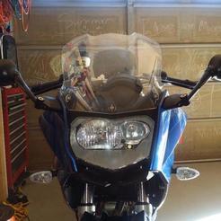 STL BMW motorcycle mirror extend, KikeSM