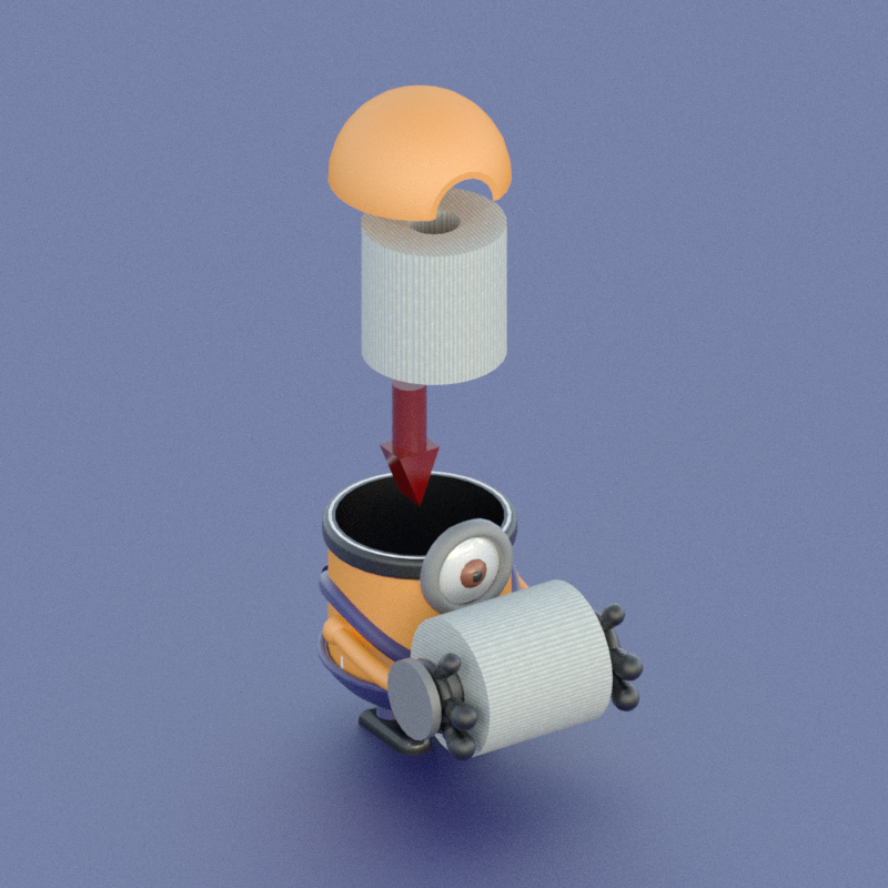 Rollo5.png Download free STL file Toilet paper holder for children / support for the bathroom • 3D printing design, KikeSM